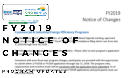 FY 2019 Notice of Changes